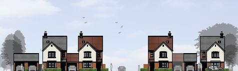 Evesham Journal: Impression of the street scene. Image courtesy of Persimmon Homes