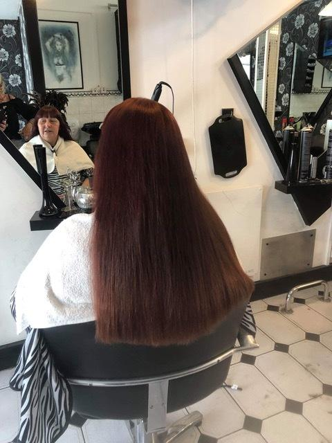 Angie Witchard is having her long locks shaved off to raise money for Dementia UK