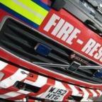 Fire crews were called to a fire in a derelict building.