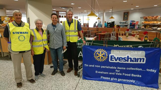 Rotary Club of Evesham holds latest collection at Morrisons supermarket