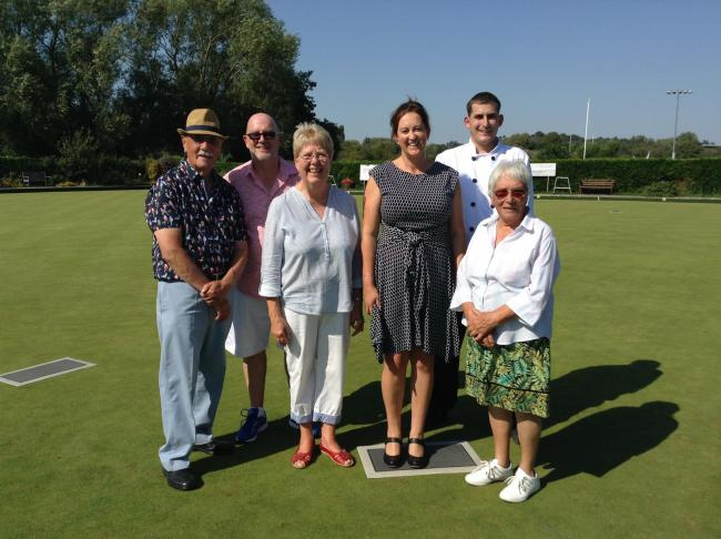Evesham Bowling Club members enjoy the president's day