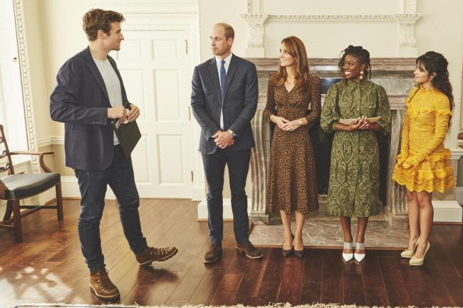The Duke and Duchess of Cambridge with Greg James, Clara Amfo and Camila Cabello