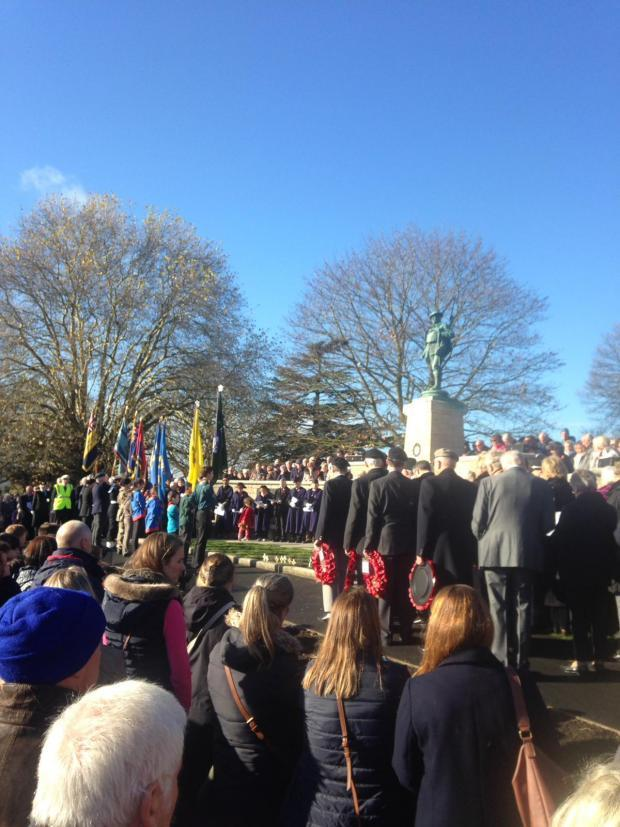 Remembrance service in Evesham 2018