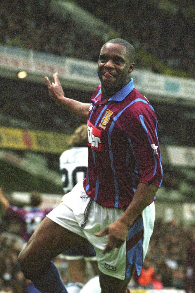 File photo dated 12/11/94 of Aston Villa striker Dalian Atkinson celebrating after scoring against Tottenham Hotspur at White Hart Lane. Picture: Sean Dempsey/PA Wire.