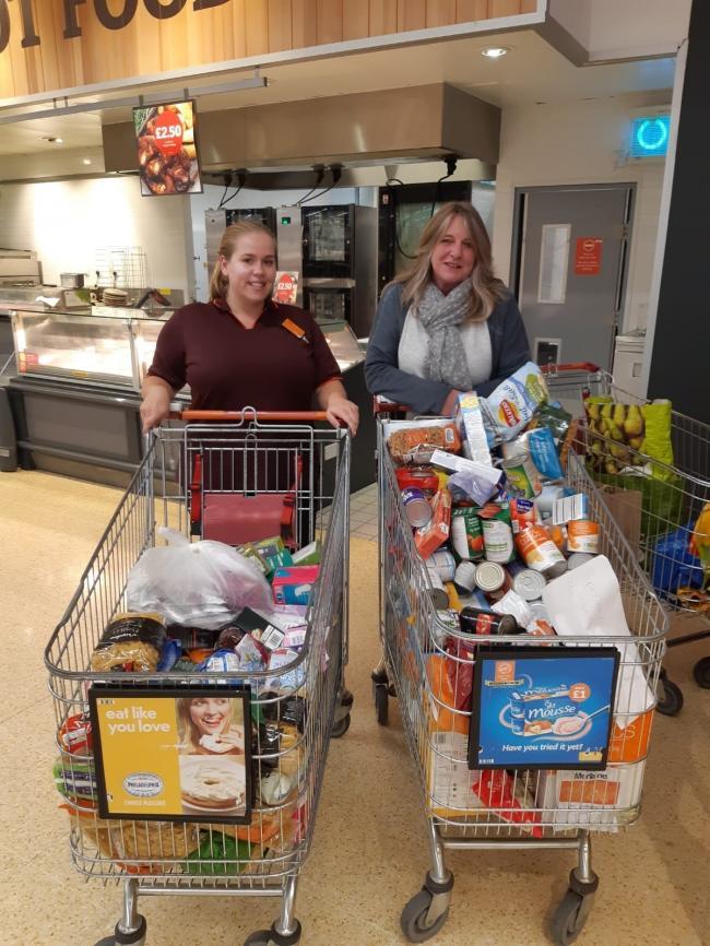 Supermarket Supports Citys Food Bank Evesham Journal