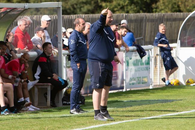 Evesham United manager Carl Abbott. Picture: stuartpurfield.co.uk