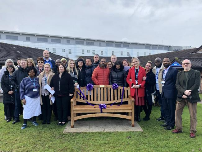 Dudley and Walsall Mental Health Partnership NHS Trust at the unveiling of Henry's bench