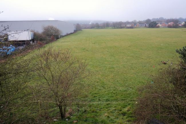 Land on Budden Road, where the site will be developed.