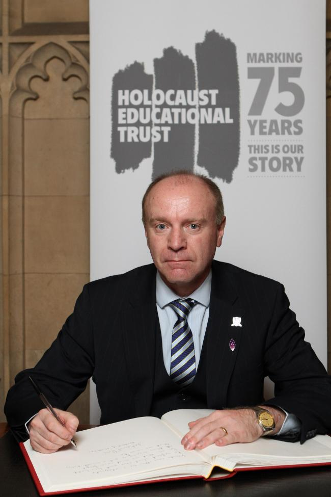 Marco Longhi MP signed the Holocaust Educational Trust's Book of Commitment in Parliament.