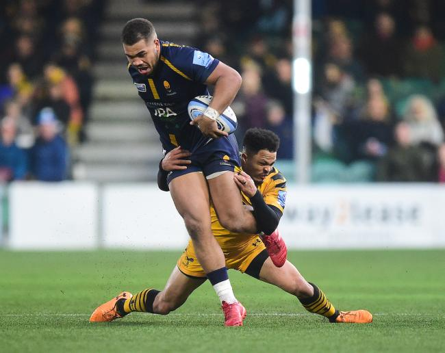 Ollie Lawrence of Worcester Warriors - Mandatory by-line: Alex James/JMP - 25/01/2020 - RUGBY - Sixways Stadium - Worcester, England - Worcester Warriors v Wasps - Gallagher Premiership Rugby.