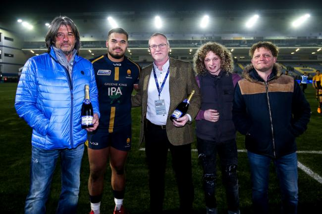 Ollie Lawrence of Worcester Warriors wins man of the match - Mandatory by-line: Robbie Stephenson/JMP - 25/01/2020 - RUGBY - Sixways Stadium - Worcester, England - Worcester Warriors v Wasps - Gallagher Premiership Rugby.
