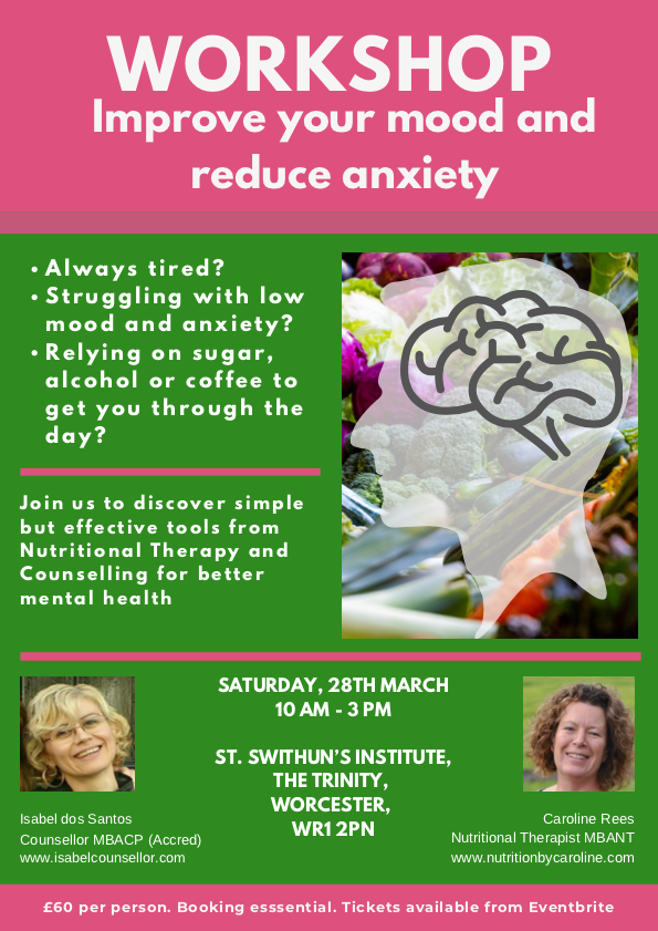 Improve your mood and anxiety workshop
