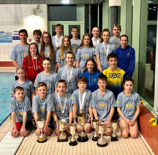 Competitors at the Worcester County Championships. Picture: PERSHORE SWIMMING CLUB