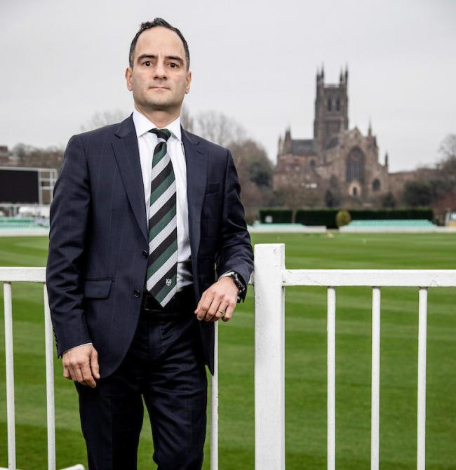 Worcestershire's Chairman Fanos Hira at the Worcestershire's Blackfinch New Road Ground, Worcester. Picture by Tony Marsh