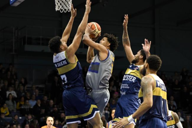 Action from Worcester Wolves' final game before the enforced break. Picture: JS Sport Photography
