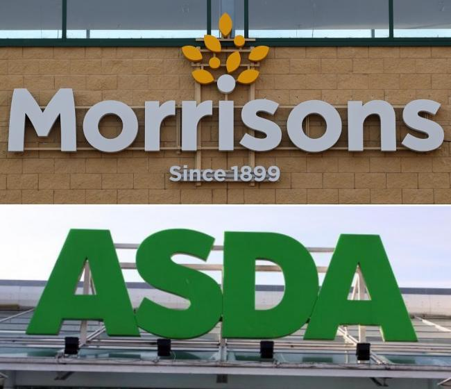 SUPERMARKETS: Asda and Morrisons. Picture: Newsquest