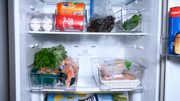 Evesham Journal: Use an organising set to create more storage zones in your fridge. Credit: Reviewed / Betsey Goldwasser