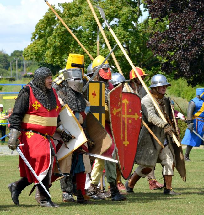 The Battle of Evesham Festival in August – now England's largest annual 13th-century battle re-enactment