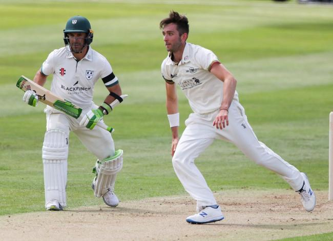 LEGEND: Daryl Mitchell (left) during the Worcestershire vs Gloucestershire match. Pic. WCCC