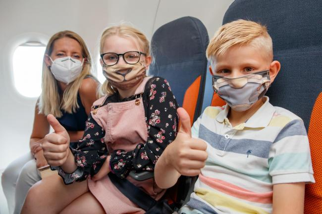 Easyjet, Jet2, TUI and Ryanair share rules on children wearing face masks. Picture: easyJet