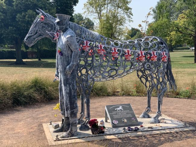STATUE: A row broke out when Wychavon District Council removed items placed by the Pershore Warhorse Memorial