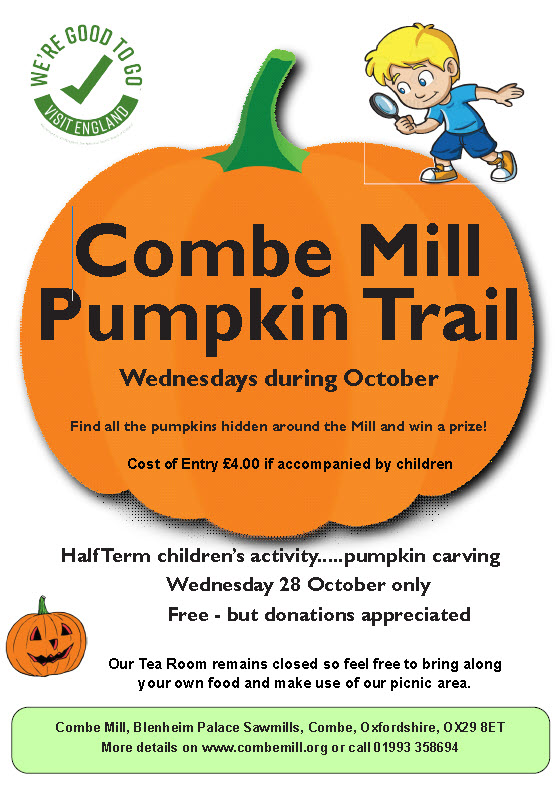 COMBE Mill    October is Pumpkin Month