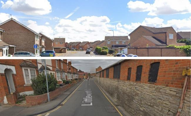 TOWN: Falkland Road (top) and Littleworth Street (bottom) were ranked as some of the least and most deprived areas in Evesham