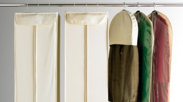 Evesham Journal: Delicate items should be hung up in garment bags. Credit: The Container Store