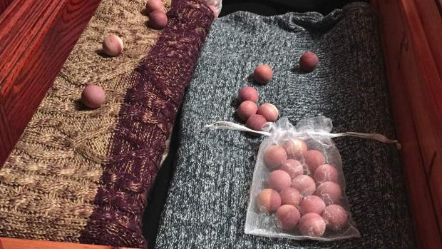 Evesham Journal: Cedar balls will keep pests away from your clothing. Credit: Cedar Space
