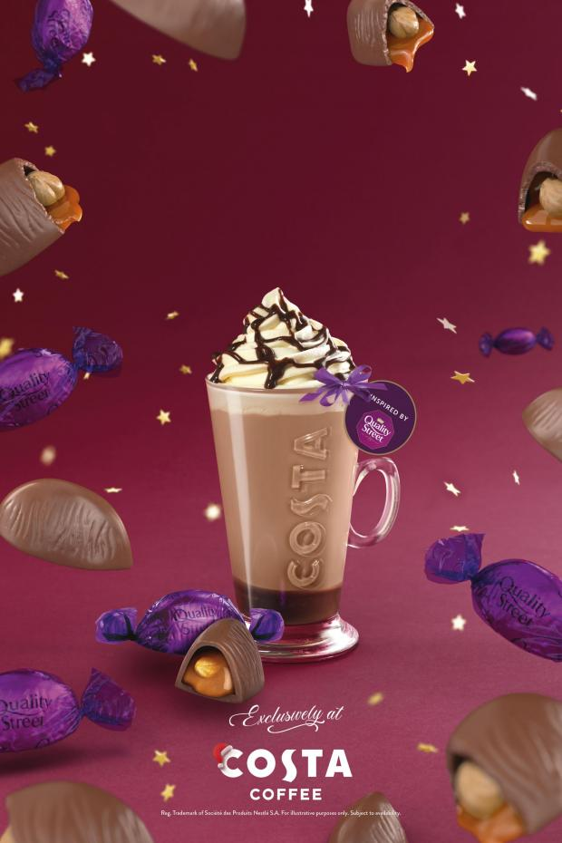 Evesham Journal: The Quality Street Purple One Latte. Credit: Costa