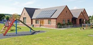 Areley Kings village hall with its new solar panels.