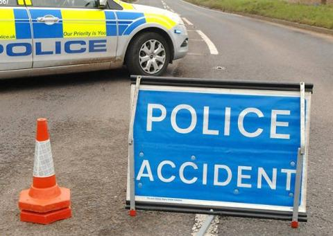 Man escapes injury after crash in Pershore
