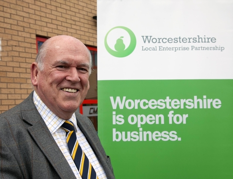HOPEFUL: Peter Pawsey, from Worcestershire's Local Enterprise Partnership