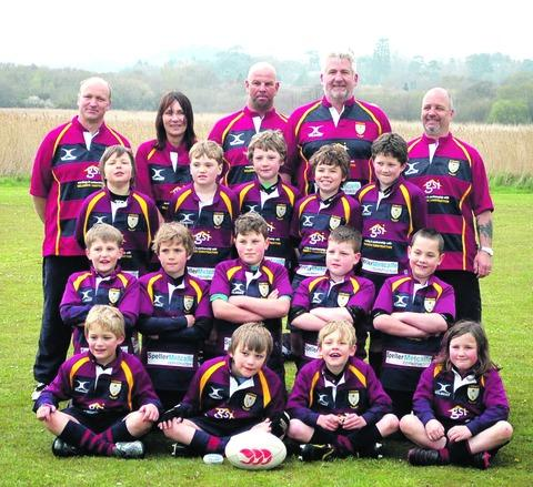 YOUNG STARS: Evesham Under Nines line up for the camera