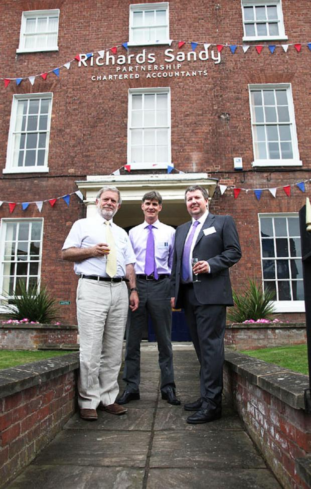 new, larger premises: From left, Richards Sandy partners Howard Painter, Nick Sandy and Rob Richards.