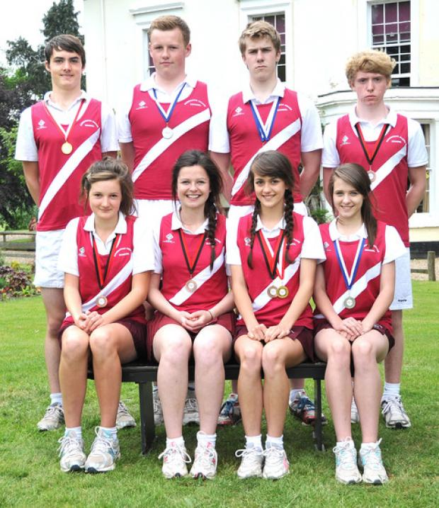MIDLANDS SUCCESSES: Bowbrook House School medal winners.