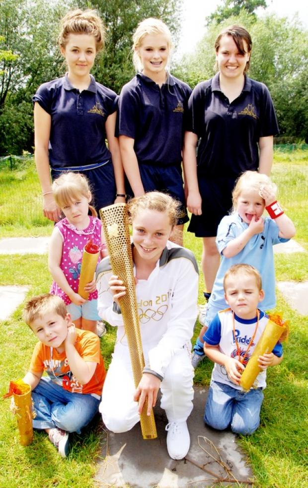Tots take part in their own mini-olympics
