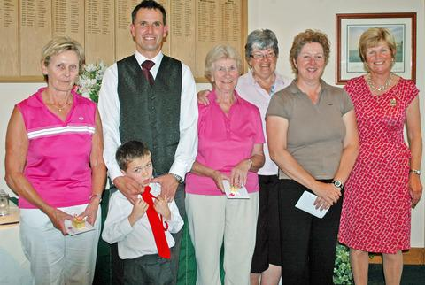 CAPTAIN'S CROWN: The Vale Club's Lady Captain's Charity Am-am winners Pauline Laight, Kerri and Stanley Thomas (from the sponsors), Margaret Henson, Cheryl Wileman, Sally Smith and lady captain Pauline Lee line up at the club.
