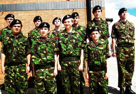 Evesham Cadets were among the proud youngsters who lined the streets of Worcester for the Queen's visit.