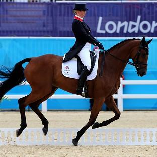 Zara Phillips recorded a score of 46.10 in the dressage phase
