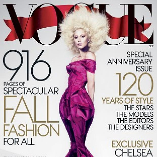 Lady Gaga graces the cover of US Vogue for its 120th anniversary edition