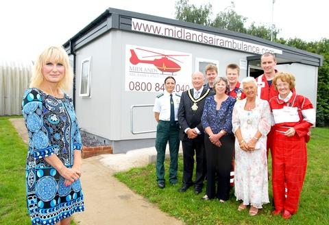 FLYING HIGH: Air Ambulance charity boss Hanna Seabright, left, at the opening of the new airbase in Strensham. She is pictured with the Mayor of Upton-upon-Severn Andrea Morgan, Worcestershire County Council chairman Robert Adams, fund-raiser Jenny Ashman