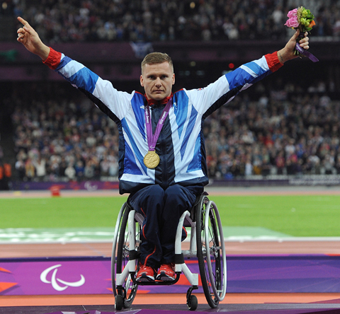 David Weir receives his medal