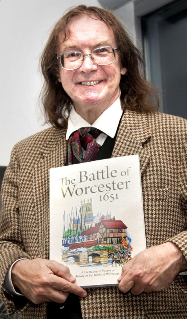 BOOK: Historian Professor Ronald Hutton with a copy of the new collection of writings on the Battle of Worcester.