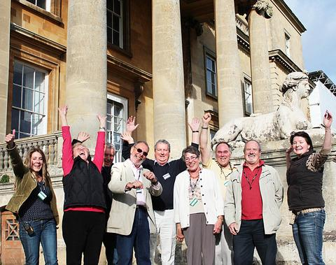 OVERJOYED: Staff and volunteers at Croome celebrate the award of a huge grant for its restoration.
