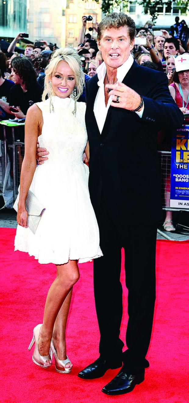 BOUND FOR BROADWAY? David Hasselhoff and his girlfriend Hayley Roberts.