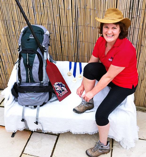 TREK: Cancer survivor Lorraine Chandler is set for her expedition.