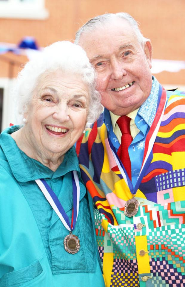 NEVER TOO LATE: Jess Fairs, aged 87, and Harry Kent, 92