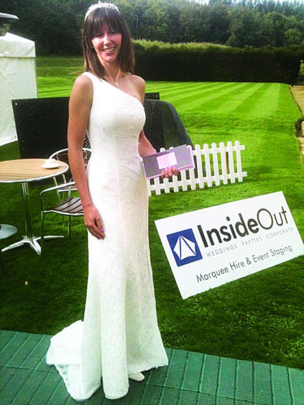 ELEGANT: Fiona Deakin models a gown from the Bridal Boutique of Worcester.