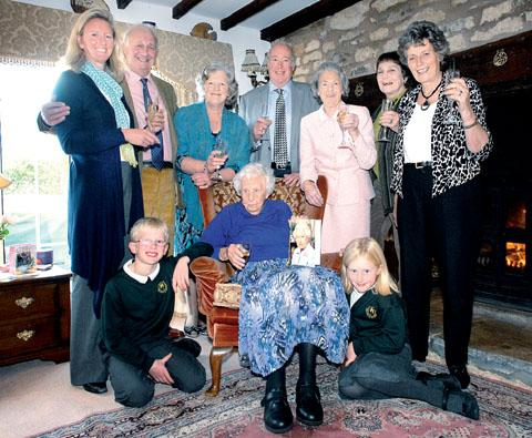 SPECIAL DAY: Joan Trench has celebrated her 105th birthday with family. Picture: Nick Toogood. 42155702